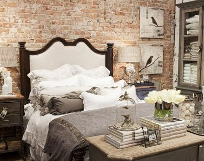 Urban chic. I'm obsessed with the brick accent wall.