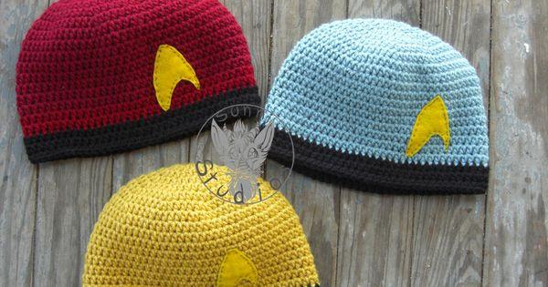 Star Trek Beanies by TheCrochetDragon Crochet Pinterest Beanies ...