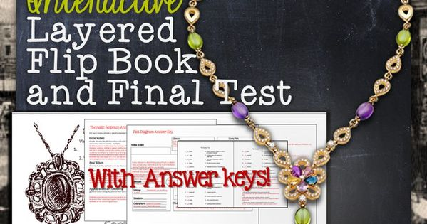 the necklace story literature guide flip book test