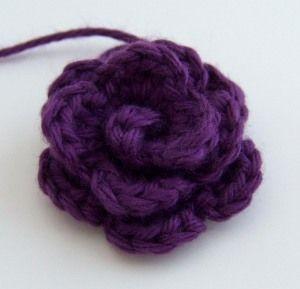 Pattern Small Rosette Crochet Flowers Easy Crochet Rose