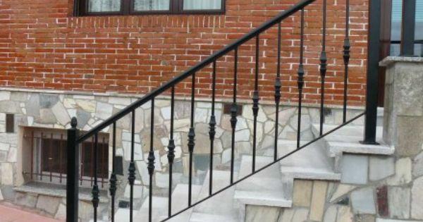 Barandilla para escalera de acceso a chalet - Barandillas metalicas para escaleras ...
