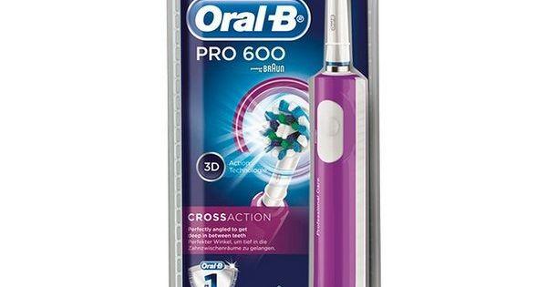 24 58 Brosse à Dents électrique Pro 600 Cross Action Oral B Brosse à Dents électrique Hygiène Buccale Listerine Bain De Bouche