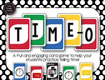 Time O Telling Time To 5 Minutes Card Game Card Games Math Basic Math