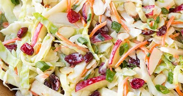 Apple Cranberry Almond Coleslaw by Cooking Classy | recipes | salads ...