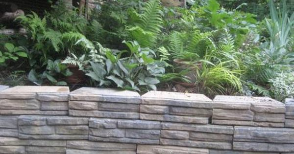 4 In X 12 In X 7 5 In Charcoal Tan Concrete Retaining Wall Block 86935 The Home Depot Concrete Retaining Walls Outdoor Gardens Concrete Wall