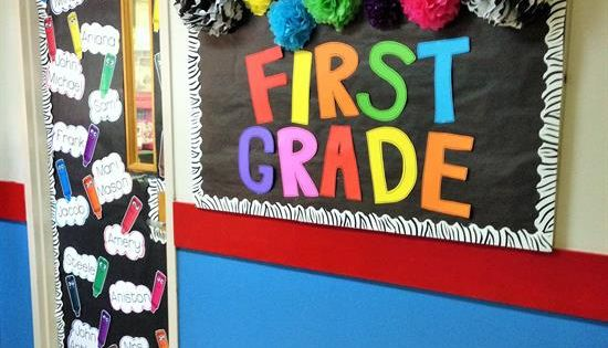A Colorful Back-To-School Welcome Wall  Door Display! Classroom