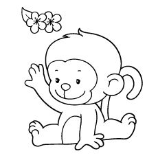 25 Cute Monkey Coloring Pages Your Toddler Will Love Animal