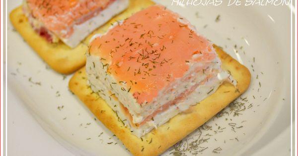 Milhojas de salm n ahumado salmon - Tapas con salmon ahumado ...