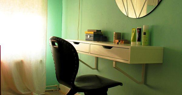 Hangende kaptafel met laden ideeen kamer aninka pinterest slaapkamer spiegel en slaapkamers - Japanse deco slaapkamer ...