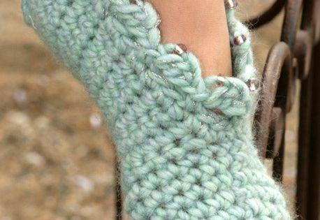 DROPS Crochet slippers in Eskimo ~ DROPS Design - Free Pattern!