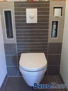 Habillage Cloison D Un Wc Suspendu Explications Et Details Meuble Wc Suspendu Decoration Toilettes Wc Suspendu