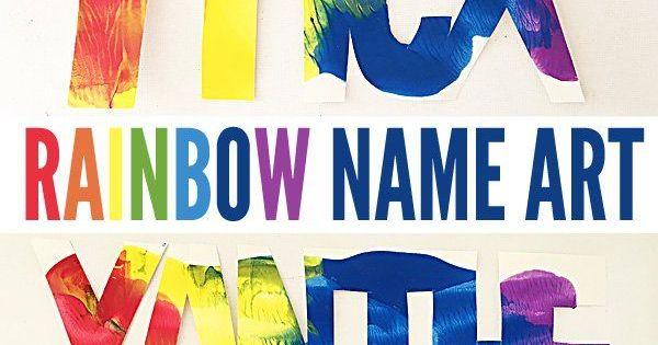 super cool kids art ideas name rainbows name art name