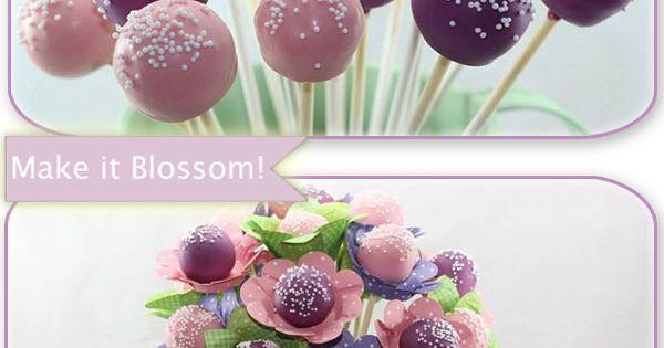 Bake-it!...Make it Blossom! Cake pop bouquet