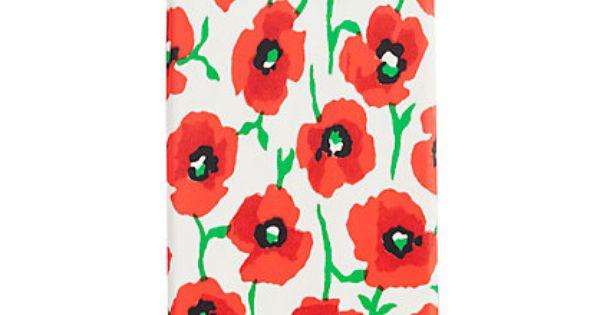 Printed iPhone 4 case from Jcrew for $25 - red poppy Memorial