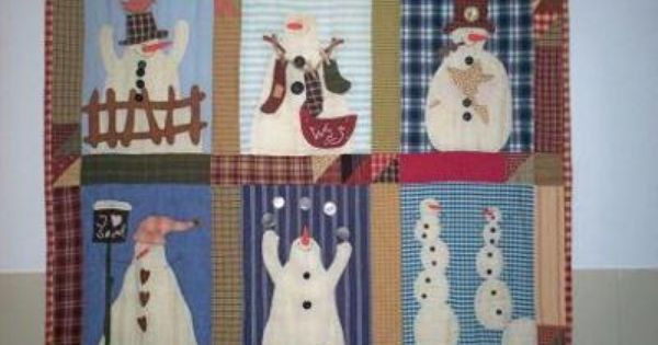 Supergoof Quilts: Sneeuwmannen  Quilt  Pinterest