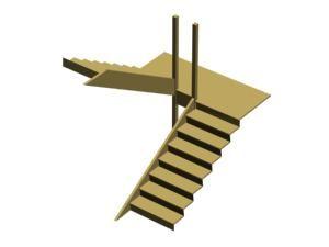 Fabriquer Un Escalier Demi Tour En Bois Avec Palier Fabriquer Escalier Fabriquer Escalier Bois Escalier Exterieur Bois