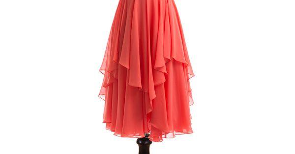 Short Coral Bridesmaid Dress Short Chiffon Dresses Prom Dress Evening Dress Plus
