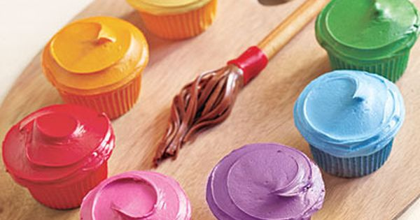 Paint Party Cupcakes