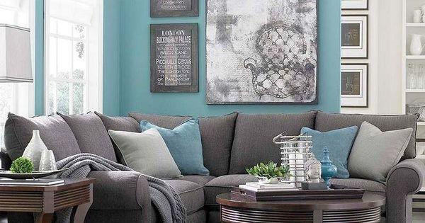 bleu turquoise et gris en 30 id es de peinture et d coration turquoise clair tapis gris et. Black Bedroom Furniture Sets. Home Design Ideas