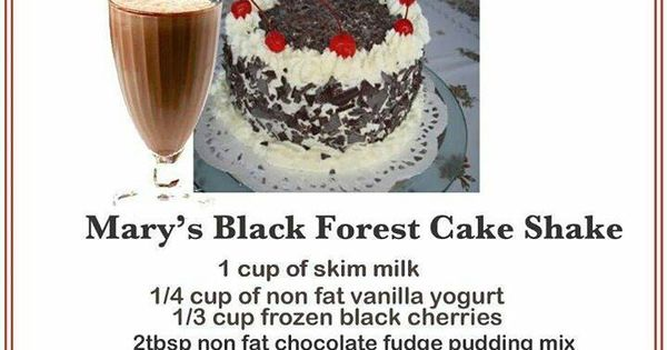Mary's black forest cake shake is the perfect lunch treat! It ...