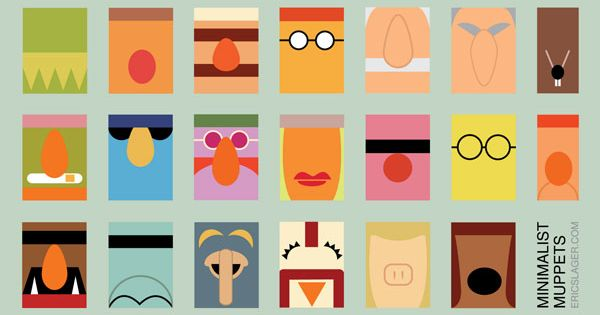 Illustration by Eric Slager - Minimalist Muppets.