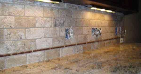 tumbled stone backsplash tumbled limestone tile