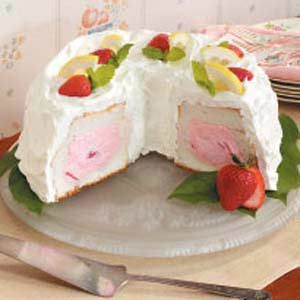 Sensational Strawberry Tunnel Cake Recipe With Images Angel Food Angel Personalised Birthday Cards Paralily Jamesorg