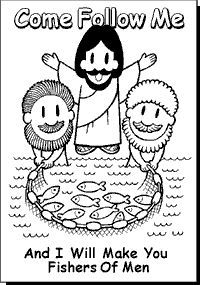 Fishers Of Men Coloring Pages Google Search Bible Crafts Coloring Pages Bible Activities For Kids