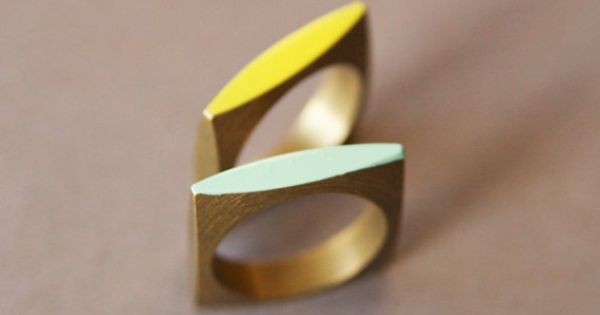 Neon Geometric Square Ring