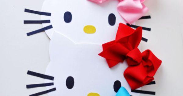 DIY Hello Kitty Party Invitation Idea....