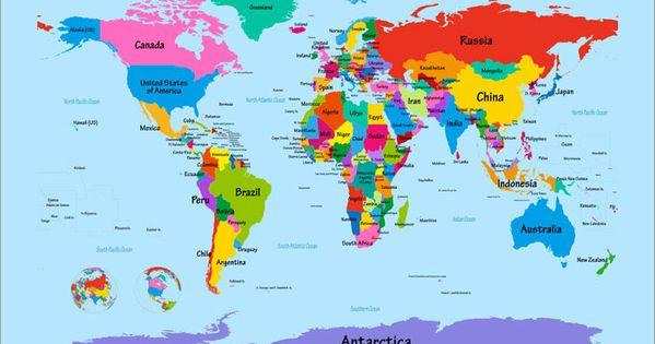 Big World Map Wall Art