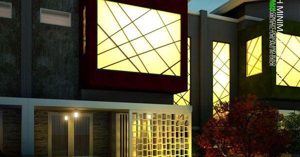 desain rumah dengan konsep minimalis modern ini terdiri