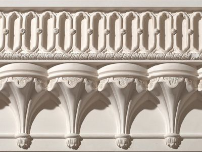 Architectural Cornices Mouldings : Ornate gothic cornice plaster moulding woodcarving