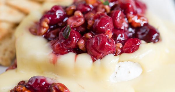 Savory Cherry Compote on Warm Brie Cheese | chocolateandcarrots.com ...