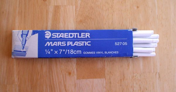 Staedtler Electric Machine Eraser Strips Soft White Vinyl