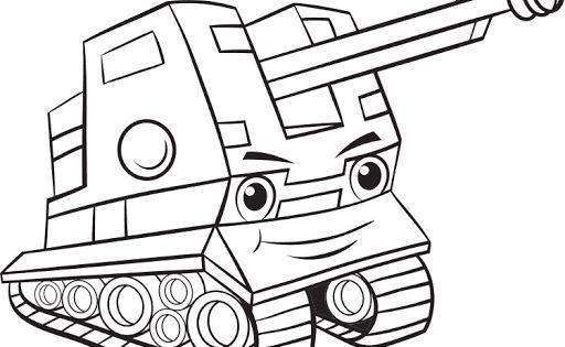 Mewarnai Gambar Mobil Tank Militer Warna Gambar Dan Latihan
