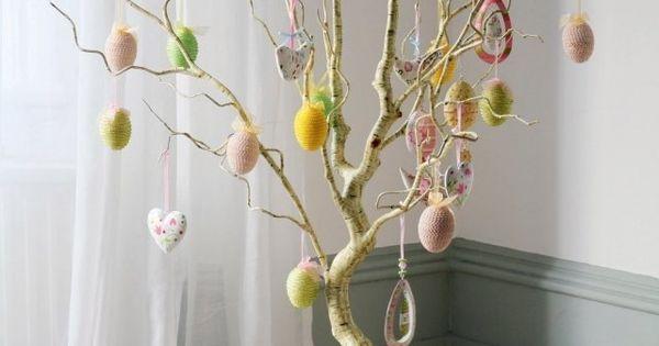 Décoration de la maison- fabriquer un arbre de Pâques déco ...