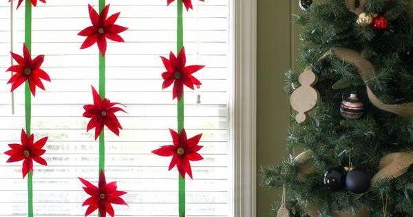 Make Felt Poinsettias in Christmas Crafts for Kids from HGTV