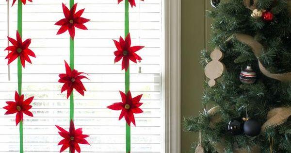 Make Felt Poinsettias in Christmas Crafts for Kids from HGTV