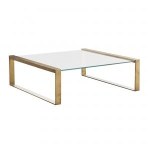 This Box Frame Coffee Table Is A Blank Slate Its Glass Surface
