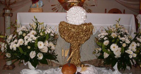 Dekoracje komunijne szukaj w google komunia for Altar decoration for first holy communion