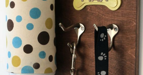Keep everything handy with a personalized dog leash holder! A piece of