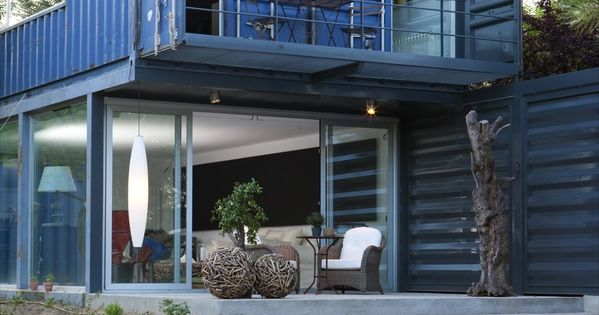 El tiemblo container home spain 2 thegreenestvillage pinterest spain ships and house - Shipping container homes el tiemblo spain ...