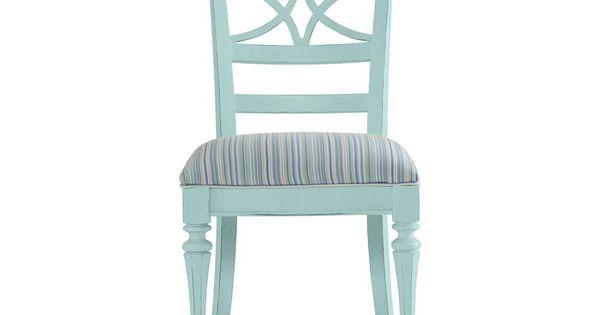 Dining Room Coastal Living Sea Watch Side Chair Ticking
