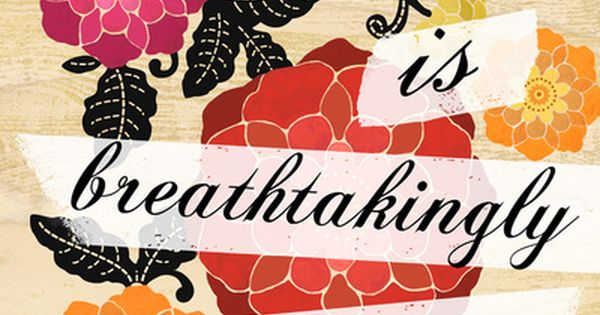 Life is Breathtakingly Beautiful Art Print by Petite Stitches