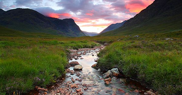 Glen Entive near Glencoe in the Scottish Highlands, featured in the James