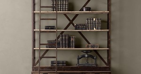 $3295 1950s Dutch Shipyard Shelving - eclectic - bookcases cabinets and computer