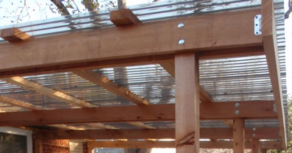 Covered Patio Cedar Structure Detail Patio Pinterest