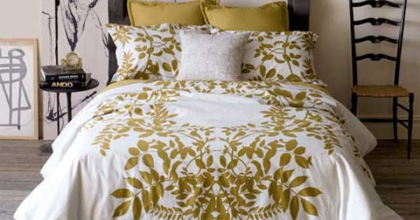 Gold and White Bedding Set