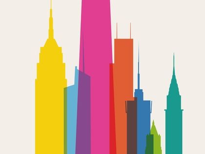 #newyork poster colors